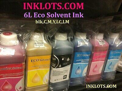 6 Liters Eco Solvent Ink Roland Mutoh Mimaki Epson Dx4 Dx5dx7 Dx5 D11