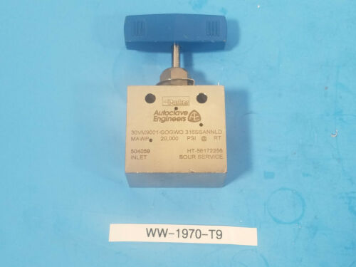 New Autoclave Engineers 30VM9001-SOGWO   20,000 PSI High Pressure Needle Valve