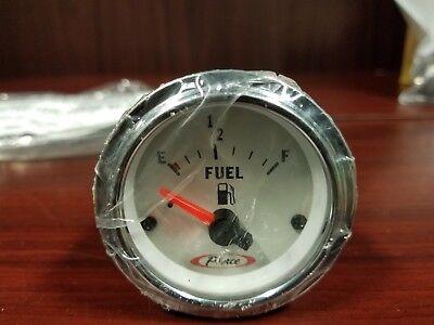 Fuel Gauge Bezel - NEW Pierce Chrome Bezel Fuel Level Gauge with Bulb & Mounting Hardware_63-5433