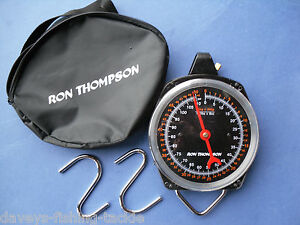 RON THOMPSON 50kg WEIGHING SCALES + CARRY CASE FOR CARP FISHING WEIGH BAR SLING