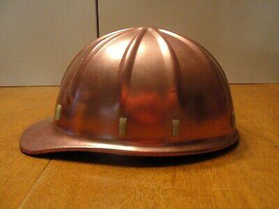 Vintage Apex Pink Anodized Aluminum Hard Hat With Original Suspension