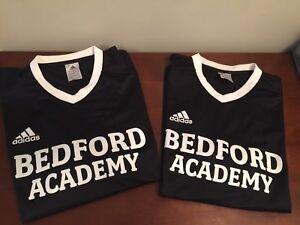 Bedford Academy PE/gym shirts, Adidas very like new, youth L