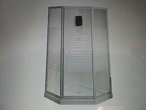 "38"" 3 piece corner shower stall"