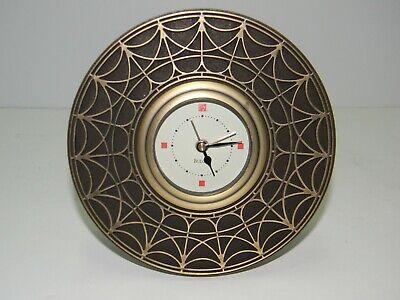 Bulova Table- Alarm Clock B7763 Frank Lloyd Wright Blossom House Brass Body