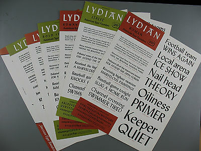 Type Specimen Sheets of Lydian Typeface, American Type Founders Company