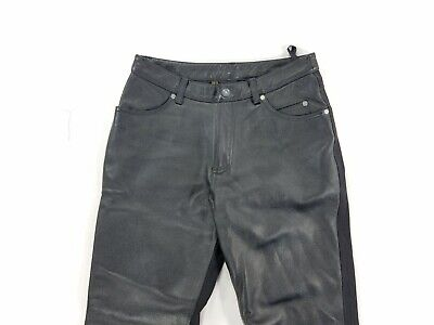 Harley Davidson Womens Leather Textile Pants Mesh Lining Straight Leg sz 8