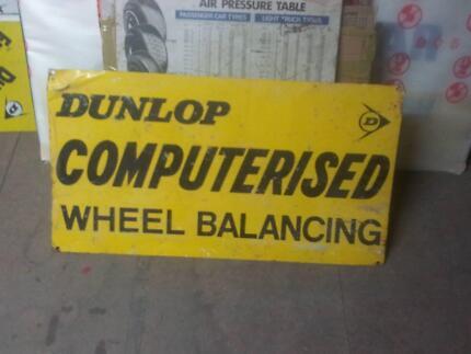 dunlop metal sign
