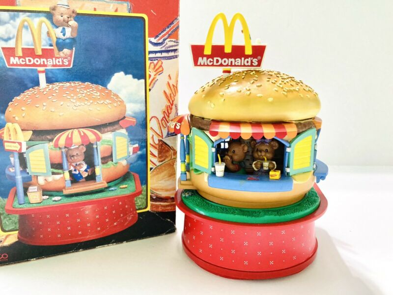 Enesco McDonalds Food Folks Fun Deluxe Action Music Plays Music Works Vintage