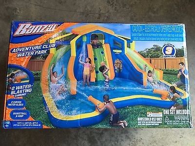 NEW Banzai Adventure Club Inflatable Water Park Slide Pool