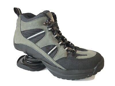 Z-Coil High Desert Hiker Ankle Boots Womens 9 Black Gray Comfort Walking Shoes