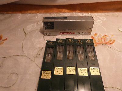 50 Faber Castell TK Bleiminen 9071 H / 5x á 10 Stück Fallbleistift Ersatzminen (Stift-ersatz)