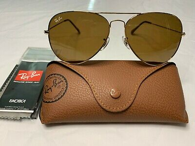 Ray-Ban Aviator Sunglasses RB3026 62mm 001/33 Gold Frame with Brown (Ray Ban Aviator Sunglasses 62mm)