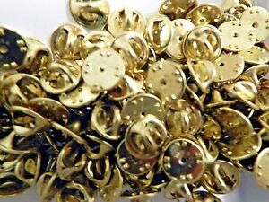 40 Brass Military Clutch Pin Backs