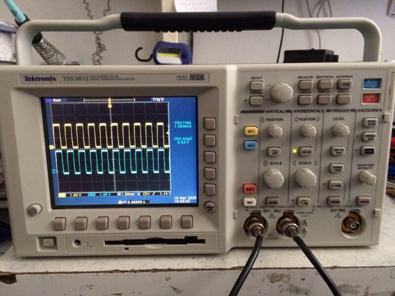 Calibrated Tektronix TDS3012 Oscilloscope 100MHz 2CH  (latest version was $9000)