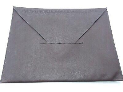 Max Mara Italy Brown Pebbled Leather Envelope/Document Holder (Max Mara Mens)