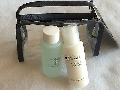 Revive Balancing Toner Soothing Skin Refresher & Cleanser Exfoliante 2oz + case