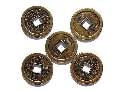10 Chinesische Glücksmünzen China Glücksbringer Glück Talisman Feng Shui 2,5 cm