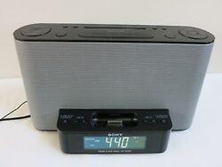 Sony FM/AM Alarm Clock Radio Speaker Dock For iPod / iPhone ICF-CS10iP, Tested