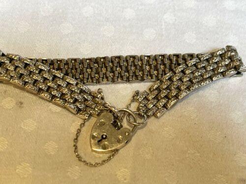 a vintage sterling silver padlock bracelet
