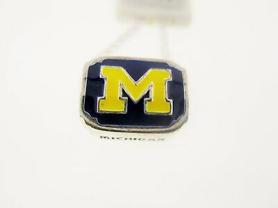 Sterling Silver Michigan Wolverines Charm (Persona Sterling Silver