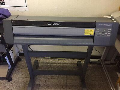 Roland Colorcamm Pc-600 24 Thermal Transfer Printercutter