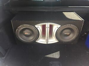 "2 - 10 "" Hertz subs and Box"