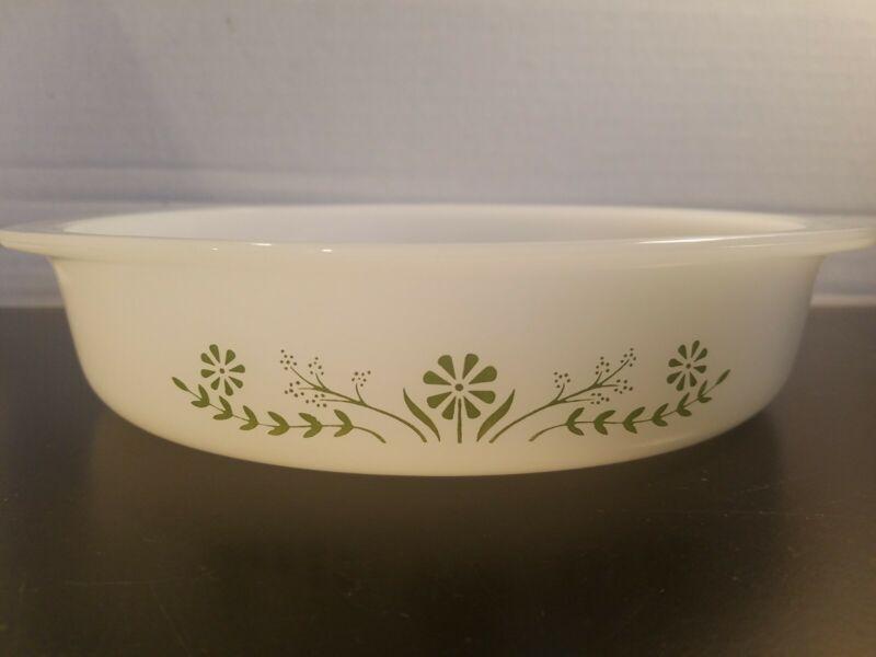 Vintage Glasbake Primrose Dream Round Cake Baking Pan Dish 8 x 8.25x2