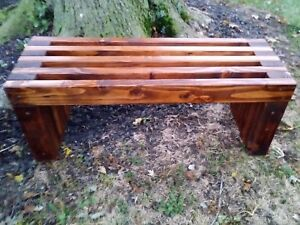 Handmade Rustic Outdoor Wooden Bench..Outdoor Furniture, Wood Bench,  Waterproof