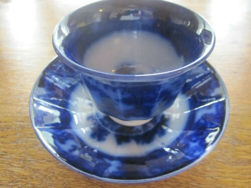 """T. & R. BOOTE HANDLESS CUP & SAUCER, """"SHAPOO"""" PATTERN - CA 1848"""