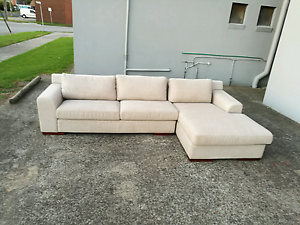 Ex display fabric sofa chaise right hand chaise Mentone Kingston Area Preview
