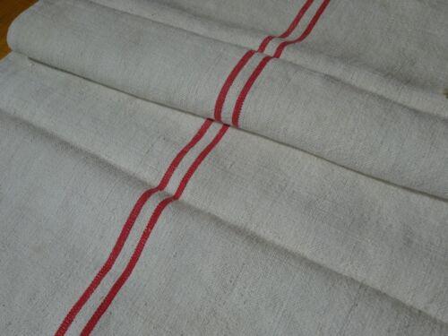 Antique European Feed Sack GRAIN SACK Red Stripe # 10416