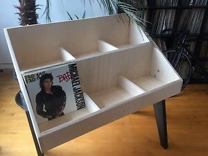 Vinyl Record Shelf Bin