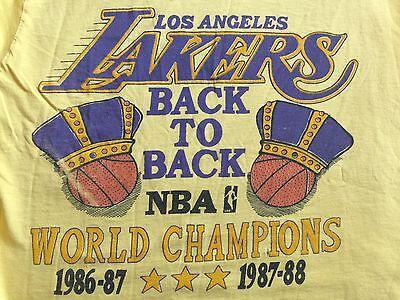 Vtg. 80'S  Lakers Back To Back World Champion 86 87 88 Magic Johnson T-shirt XL