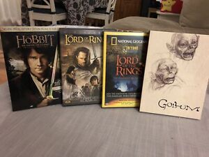 The Hobbit, Return of the King, and two collectible DVDs