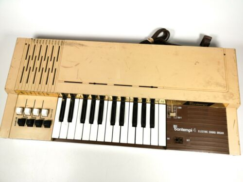 Vintage Bontempi B4 Electric Chord Organ Keyboard Canada Made Good Sound