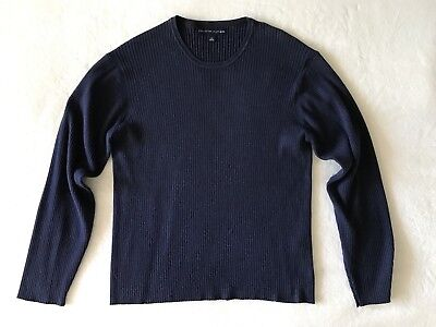 Tommy Hilfiger Men's Crew Neck Sweater Navy Blue L