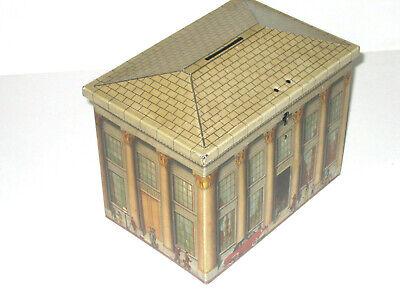 Boîte biscuits De Beukelaer DBF banque Bank Tin 1950 Tirelire Moneybox Blechdose