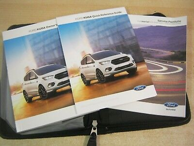 FORD KUGA HANDBOOK OWNERS MANUAL  2016-2018  inc  Sat nav, service book REF w87