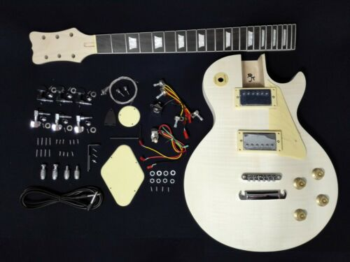 Haze Solid Basswood+Frame Maple Veneer Body Electric Guitar DIY. HSLPP 19380B