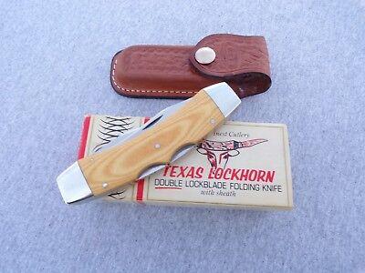 CASE XX * 1982 MICARTA TEXAS LOCKHORN WITH SHEATH KNIVES rw