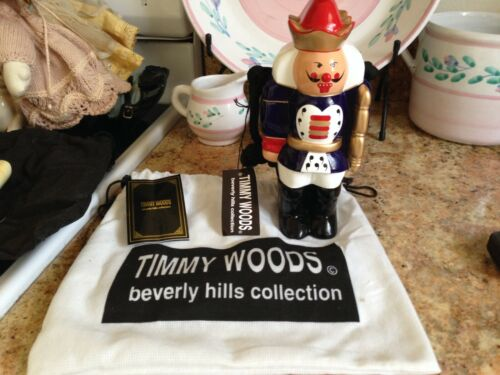 Timmy Woods Nut Cracker Handbag, Purse Signed, Tags & Bag