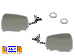 VW T1 BEETLE BUG CHROME DOOR WING MIRRORS 1968 - 1979 A440