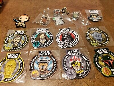 Funko STAR WARS Smugglers Bounty Box Patches and Pins HUGE Lot (15 items)
