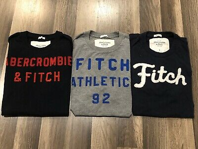 Abercrombie & Fitch Mens Muscle Tshirt Lot Of 3 Size Large EUC RUNS SMALL