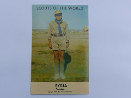 SYRIA Unused Vintage SCOUTS OF THE WORLD Boy Scout in Uniform 1964 BSA Post Card