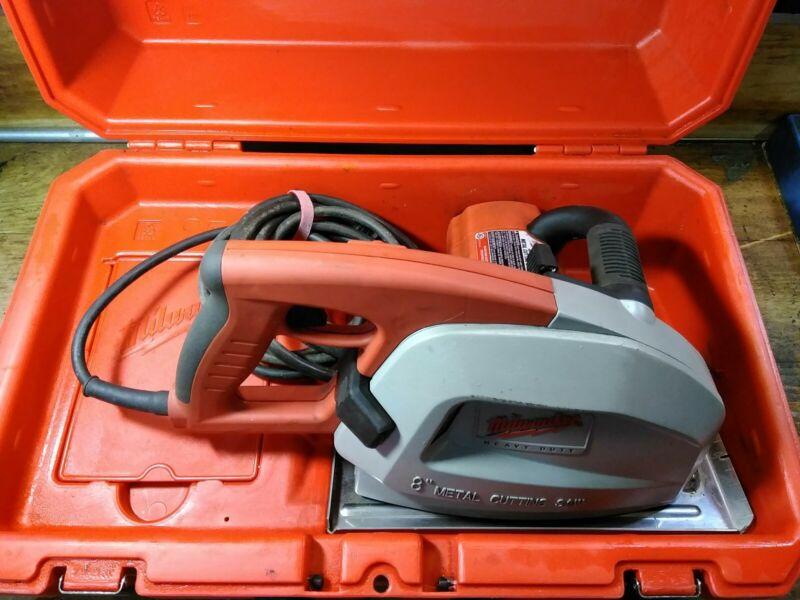 Milwaukee 6370-20 8 inch Metal Cutting Saw. Case 3 40 tooth Carbide Metal Blades