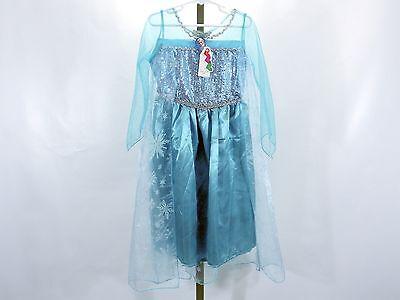 Girls 6T/7T Disney Frozen Princess Elsa Dress w/Cape Party Halloween Dress Up
