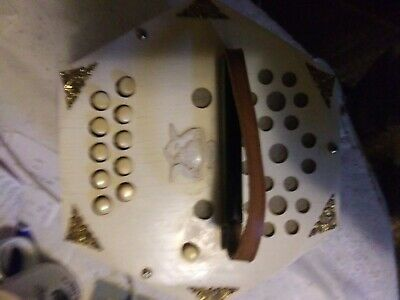 VTG Made In East Germany Scholer Concertina Mini Accordion