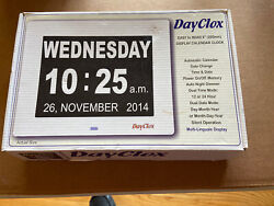 Dayclox – The Original Memory Loss Digital Calendar Day Clock with Extra Large &