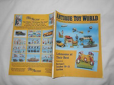 ANTIQUE TOY WORLD Magazine-SEPT,1997-LEHMANNS AT THEIR BEST-BERTOIA'S (Humans At Their Best)
